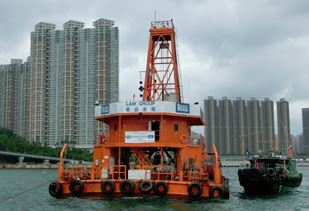 Floating barge for marine drilling